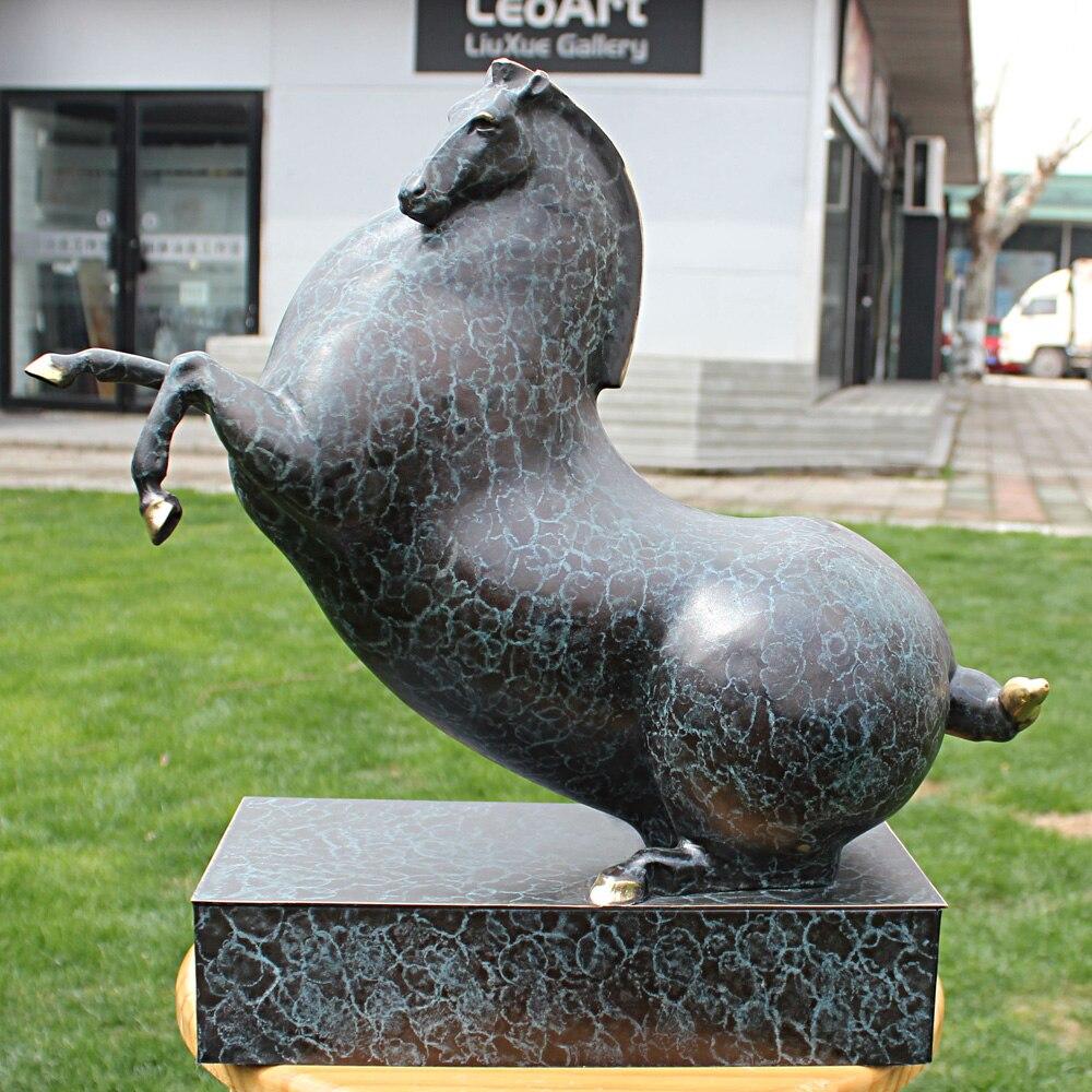 Les douze zodiaque cheval mascotte bronze sculpture artisanat patron cuivre cheval cadeau ornements