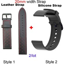 20mm Bracelet Strap For Xiaomi Huami Amazfit Bip Watchband GTS Leather Wristband GTR 42mm Watch Silicone Band