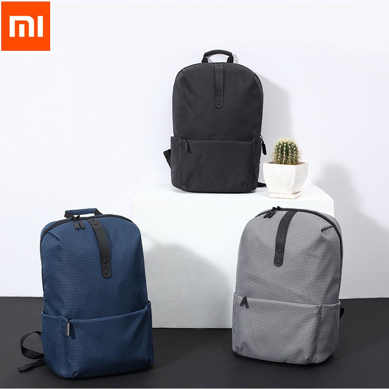 2017 Original Xiaomi Fashion School Bag Backapck 600D Polyester Durable Waterproof Outdoor Suit For 15 6