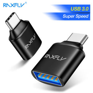 RAXFLY USB Type C OTG Adapter Type-c 3.0 Male to USB 3.0 Female Converter For One