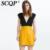 SCQP Solid Zipper Bolsillos Señoras Oficina de Trabajo de Desgaste Mini Falda Falda de Cuero de Imitación Sexy Moda Otoño Vestido Corto Faldas Para Mujer