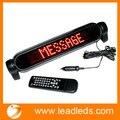 DC12V Car Auto Red LED Programável Mensagem Sinal de Rolagem Placa de Exposição Em Movimento Apoio da França e da Língua Espanhola com controle remoto