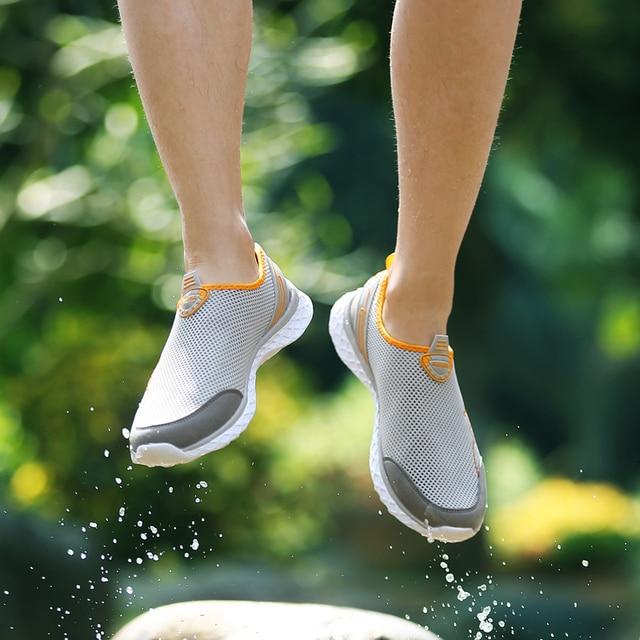 MAISMODA Summer Outdoor Shoes Men Women Lightweight Breathable Mesh Creek Beach Quick Dry Wading Upstream Fishing Net Water Shoe 3