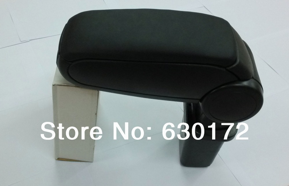 Center Console Armrest (Leatherette Black) For Honda Jazz / Fit Second Generation