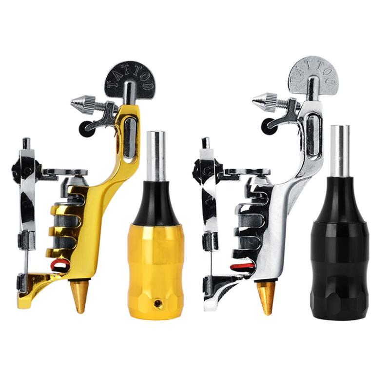 Aluminum Tattoo Motor Machine Liner Shader Gold Ink Shower with Handle Tatoo Motor Gun Kits Supply For Artists
