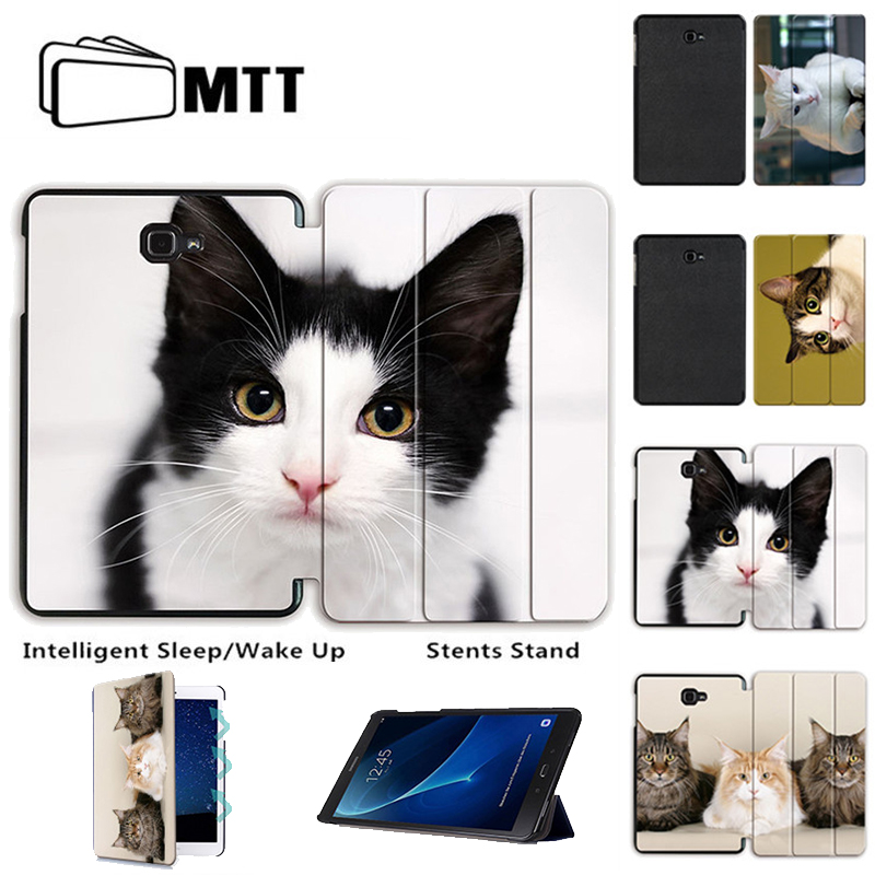 MTT For Samsung Galaxy Tab A 10.1 A6 T580N T585C fashion Cat Protective Stand Case for Galaxy Tab A 10.1 SM-T580/585 Tablet