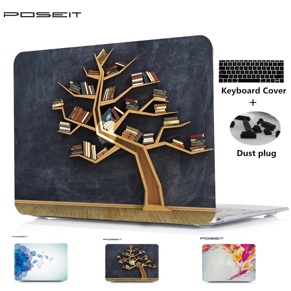 POSEIT For Apple Macbook Air 11 13 Plastic Hard Case Cover for Macbook Pro Retina 12 13 15 Laptop Shell+Keyboard Cover+Dust Plug цена