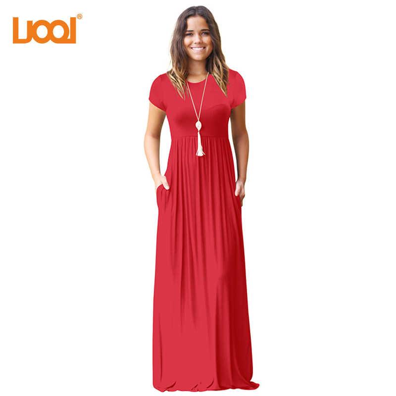Vestido платье макси для Для женщин короткий рукав пол Длина Длинные платья с