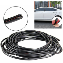 10M Black 32Ft U-Shaped Rubber Seal Car Door Edge Guard Strip Molding Trim Protectors