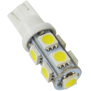 Image 2 - Safego 10x LED T10 W5W LED Bulbs 9SMD 5050 W5W T10 LED White Blue auto car wedge clearance lights W5W 194 168 led interior lamp