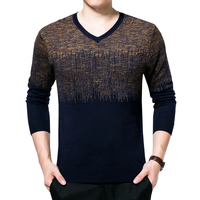 Spring Mens Sweater Pullovers Cotton Knitted V Neck Sweater Jumpers Thin Male Knitwear