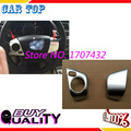 Free Shipping! Car Steering wheel Cover ABS Chrome Steering Wheel decoration trim For Toyota Camry
