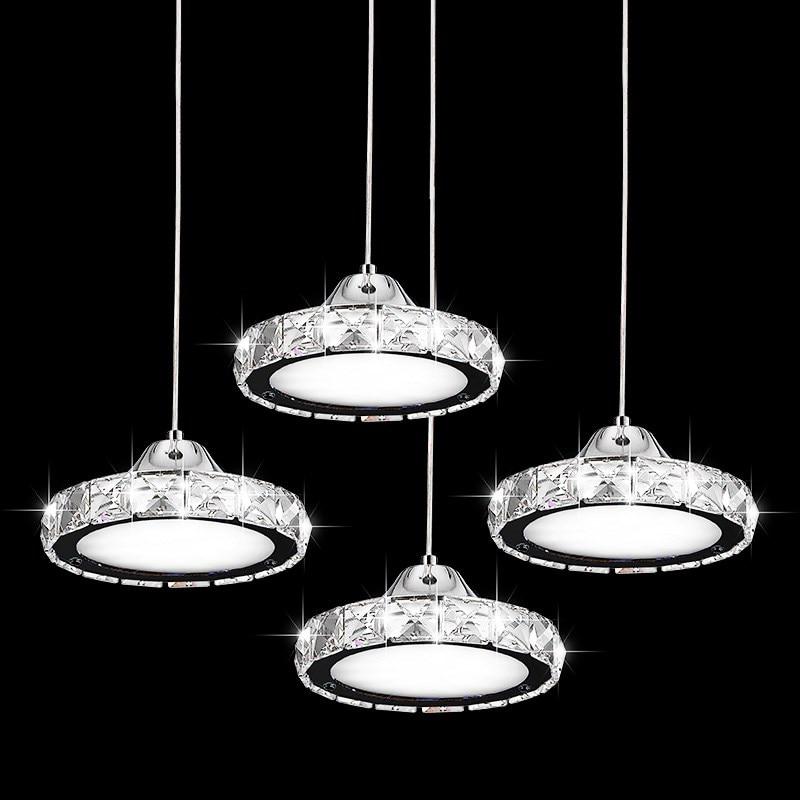 Restaurant pendant light crystal lamp three simple modern ...