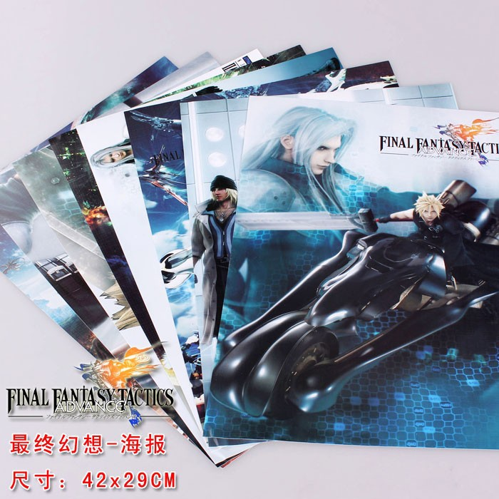 Game Final Fantasy Posters Included 8 Different Pictures 8pcs/Lot Video Games Poster Sizes 42x29 CM