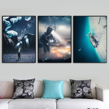 Surrealism Underwater World Sea Nordic Poster And Prints Creativity Wall Art Canvas Painting Pictures For Living Room Decor