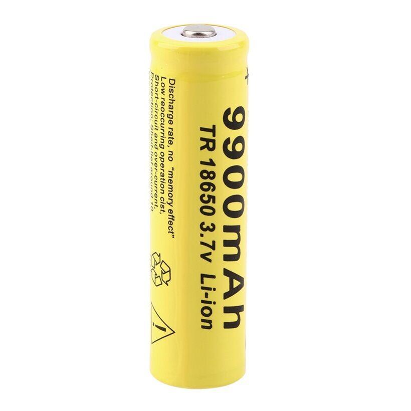 20pcs 3,7 V 18650 аккумулятор, литиионый аккумулятор, 9900mAh 3,7 V литий ионная литиевая батарея для фонарика-in Подзаряжаемые батареи from Бытовая электроника