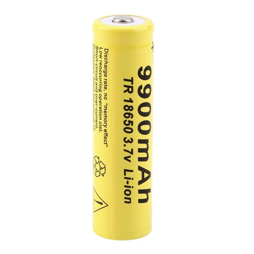 20pcs 3.7V 18650 Battery Lithium Battery 9900mAh 3.7V Rechargeable Battery Li ion Lithium Bateria For Flashlight-in Rechargeable Batteries from Consumer Electronics