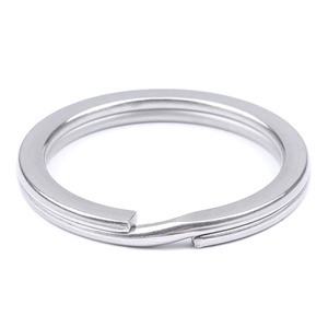 Image 3 - Stainless Steel Key Ring Flat Ring Metal Accessories Wire Dia 1.5/1.6/1.8/2.0/2.2/2.4/2.6mm Key Chain Holder Wholesale 300pcs