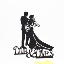 1pc Creative MR & MRS Wedding Cake Flag Topper Multi Colors Flags For Anniversary Party Baking Decor