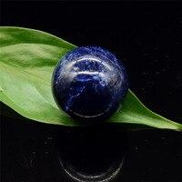 Bolas de cristal 30mm Sphere Natural Sodalita Gemstone Esfera Da Massagem Mão Home Decor Pedras Naturais e Minerais Massagem Brinquedos Divertidos