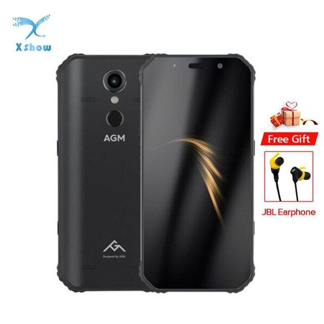AGM A9 IP68 Rugged Smartphone 5.99inch 18:9 FHD+ Snapdragon 450 NFC Front 16MP Rear 12MP Fingerprint 5400mAh Cellphone