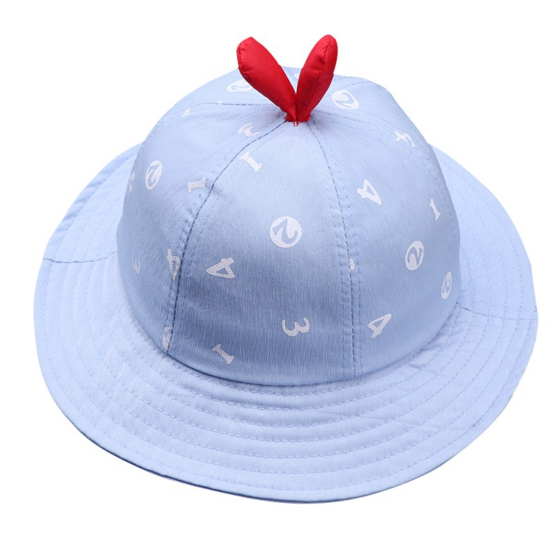 2019 Spring Summer Baby Hat for Boys Girls Toddler Caps Digital Print Bucket Hats Caps Reversible Sun Headwear Autumn in Hats Caps from Mother Kids