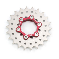 Fouriers Fiets Single Speed Cog Hub Cassette Conversie Kit Adapter 9S Tot 1S Schijfrem Is 6 Bolt cogs Bicycel Onderdelen