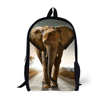 School Backpack Children Backpack Elephant Creative Classic Printing For High School Backpacks For Teenagers