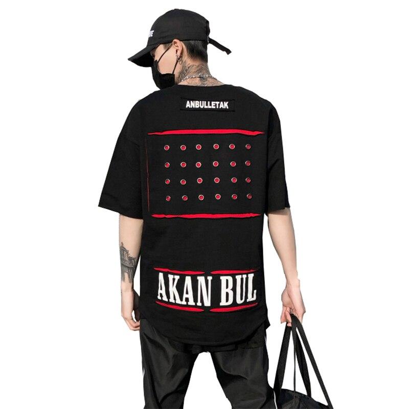 Ligne de pliage 2018 nouveau Anglais Lettres Droite Graphique T-shirts Hommes de Hip Hop Style Homme Noir D'été Tops amateurs de t-shirts