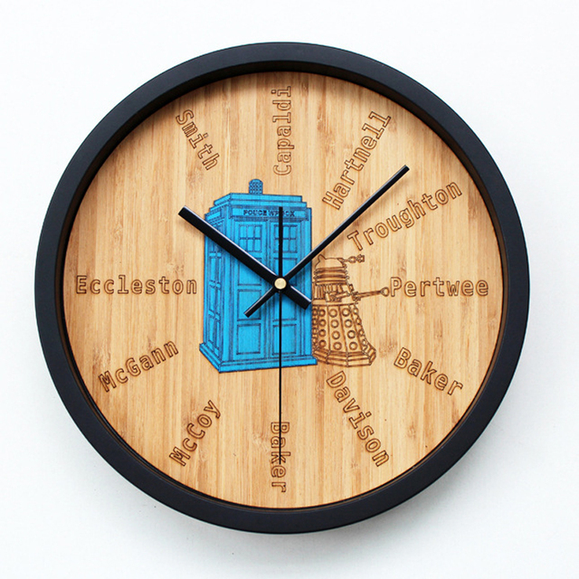 ouyun doctor of creative wall clock wood bedroom big watch stereo clock time machine telephone. Black Bedroom Furniture Sets. Home Design Ideas