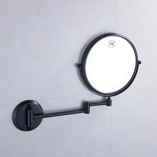 Wall Mounted Brass Bathroom Accessories 1/3/5X Mirror Adjustable Distance Round Chrome Finished Makeup Espelho E