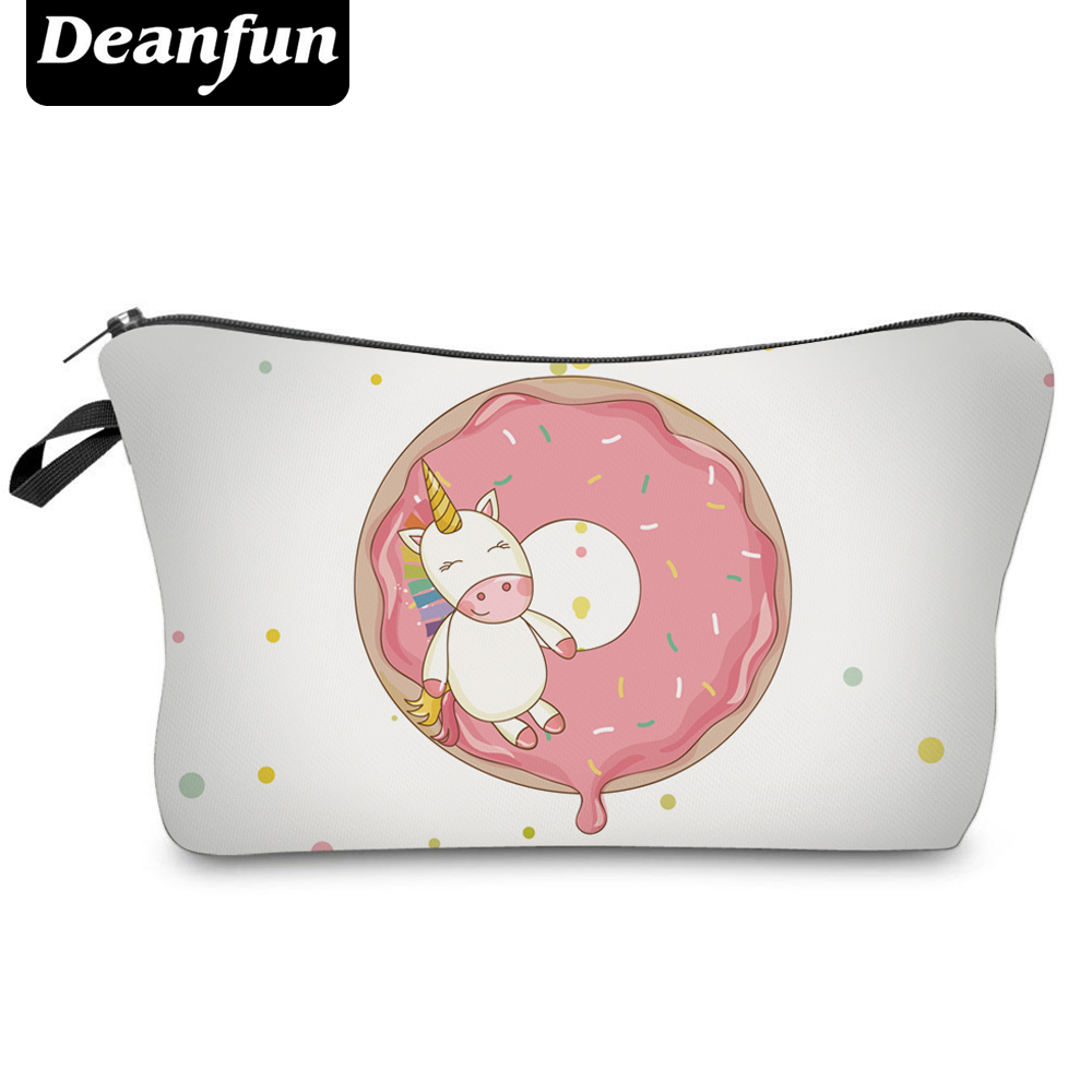 Deanfun Fashion Brand Unicorn Cosmetic Bags  New Fashion 3D Printed Women Travel Makeup Case H91