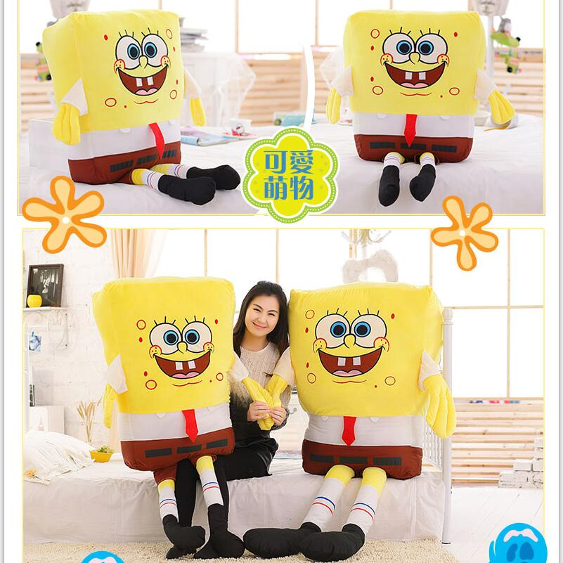 1pcs 40cm/50cm Sponge Bob Baby Toy Spongebob And Patrick Plush Toy Soft Anime Cosplay Doll For Kids Toys Cartoon Figure Cushion 2016 ouran high school host club mitsukuni haninoduka s rabbit anime cosplay plush toy 38cm