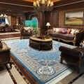 Irã importado persa tapete sala de estar luxo villa quarto sofá mesa café americano clássico acrílico tapete
