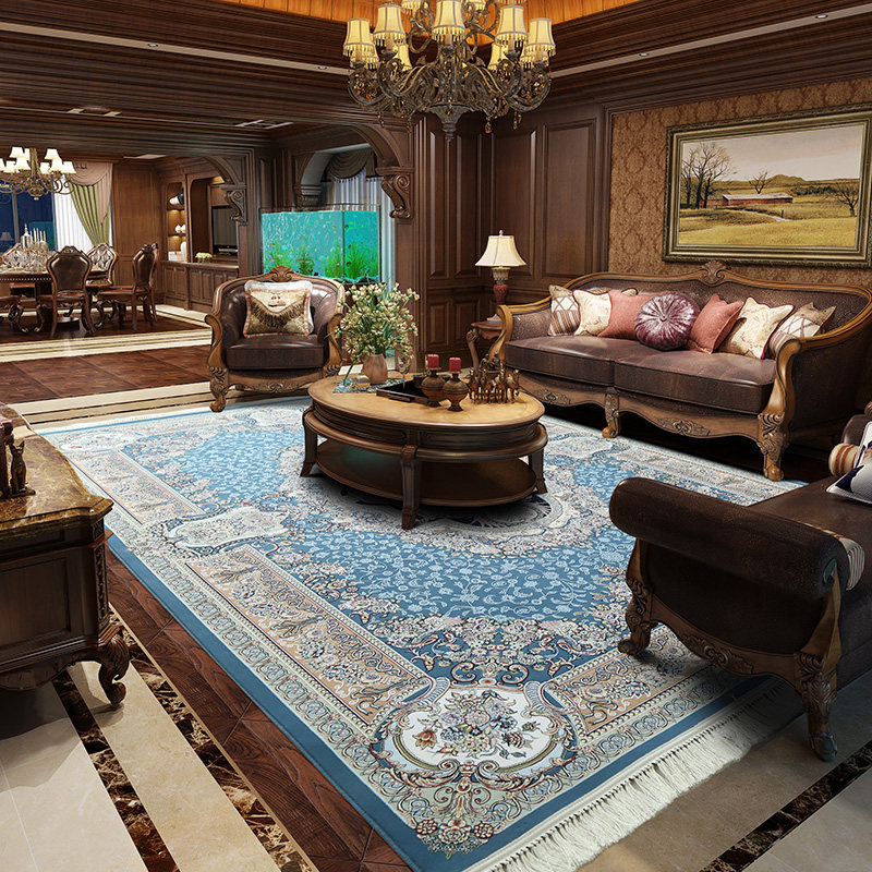 Iran Imported Persian Carpet Living Room Upscale Villa Carpet Bedroom Sofa Coffee Table Rug American Classical Acrylic Floor Mat