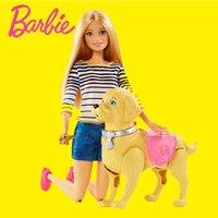 Original Barbie Authorize Brand Fashion Dolls Bicycle Model Dog Toy Riding Girl For Birthday Gift Barbie Boneca DWJ68