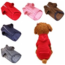 2018 New Pet blank pocket hooded sweater Pet Puppy Clothes Dog Coat Hat Clothing Dog Jacket Winter