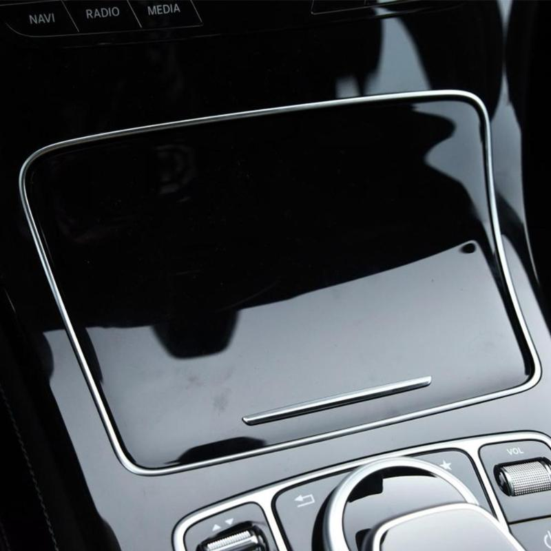 Autocollant de garniture de cadre de support de verre de voiture pour Mercedes Benz classe C W205 classe GLC W253 2015-2018 accessoires de style intérieur automatique - 5