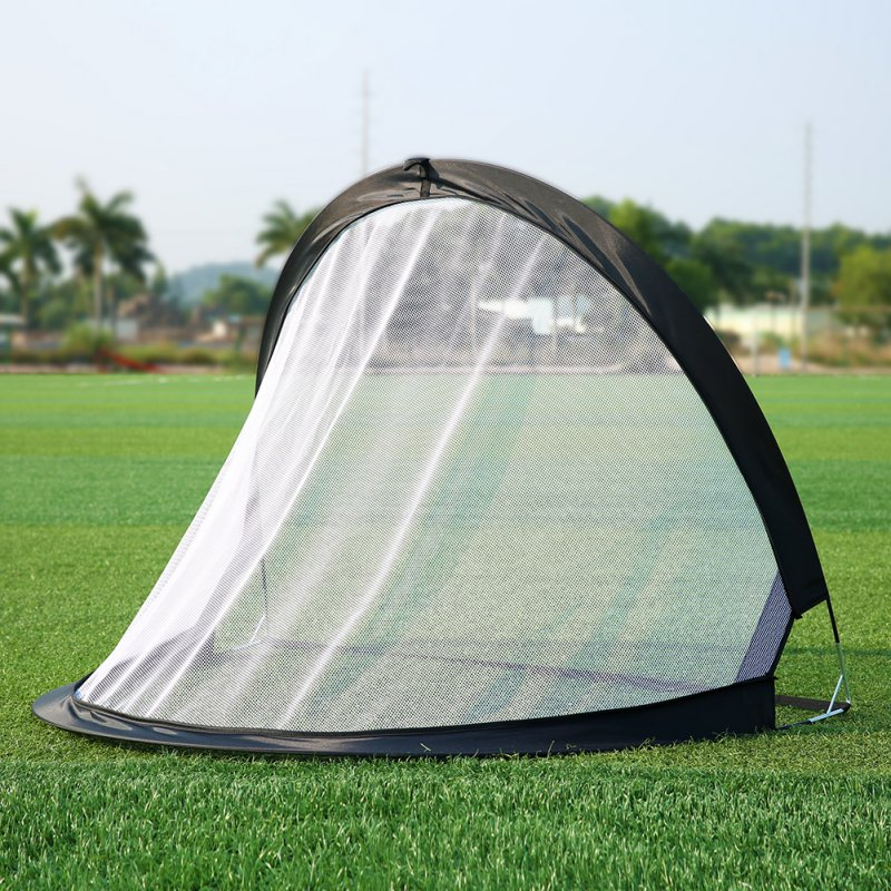 2Piece Soccer Football Goal Net Folding Black Training Goal Net Tent Kids Indoor Outdoor Play Toy image