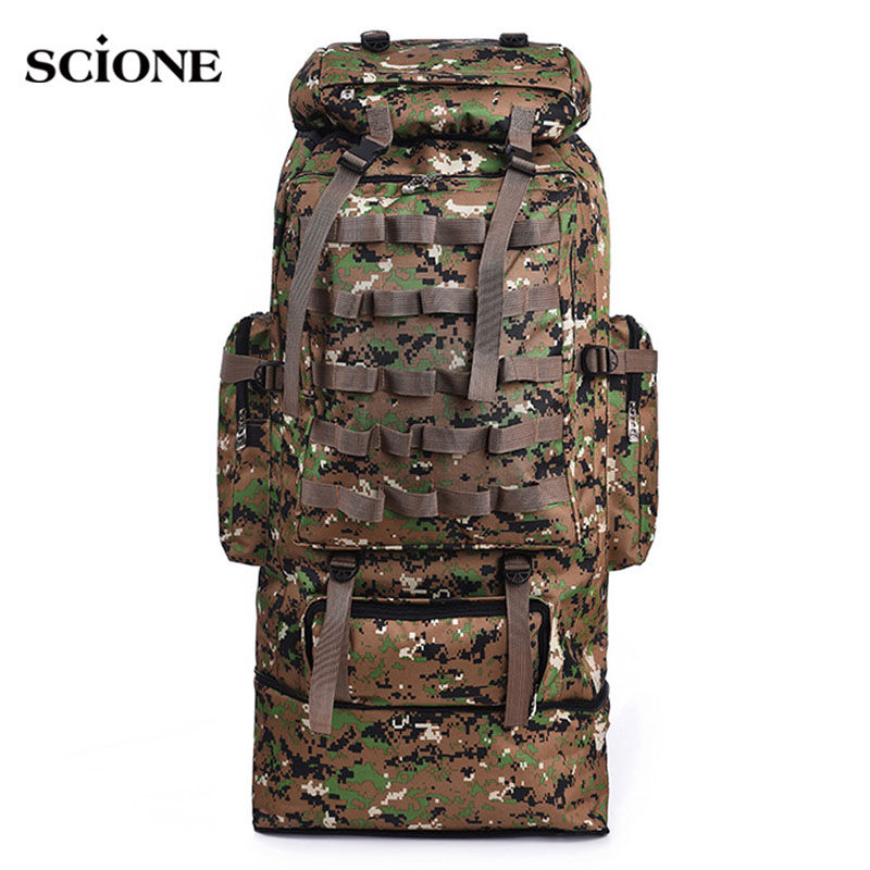 scione 100L Military Molle Bag Camping Tactical Backpack Men Large Waterproof Travel Outdoor Sport Bag Shoulder Rucksack XA231WA free shipping men women unisex outdoor military tactical backpack camphiking bag rucksack 50l molle large big ergonomic gear