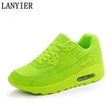 Новая дешевая Мода 2017 г. повседневная обувь для Для мужчин дышащие кроссовки свет сетки шнуровка мужской Обувь для взрослых