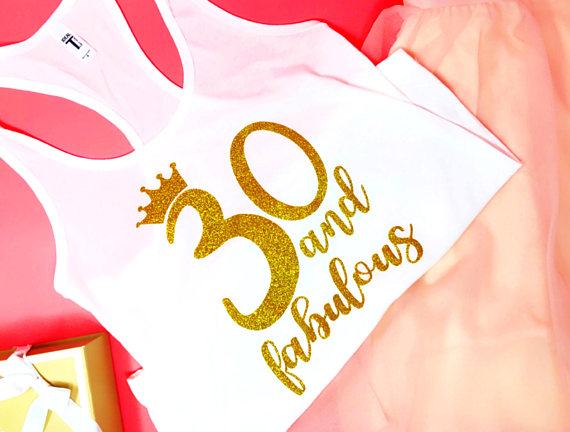 358261af Personalized NUMBER 30 and Fabulous BIRTHDAY party girls t shirts  Bachelorette tanks tops gifts bridal vests party favors -in Party Favors  from Home ...
