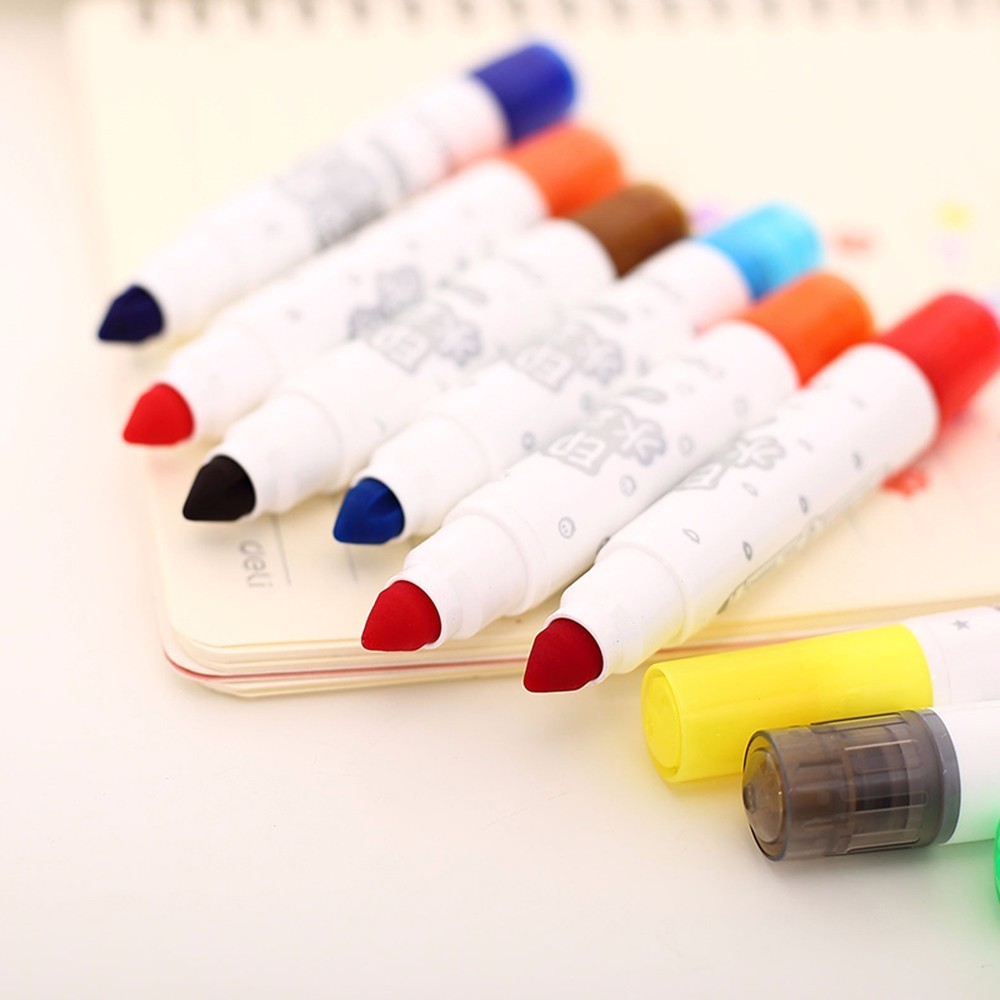 watercolor pen water brush wash brushes thick and big capacity doodle colored drawing pen 12 Colors water art pens fine markers brocade water write cloth suit thick imitation xuan paper adult beginner entry water write brush pen posts dd1303