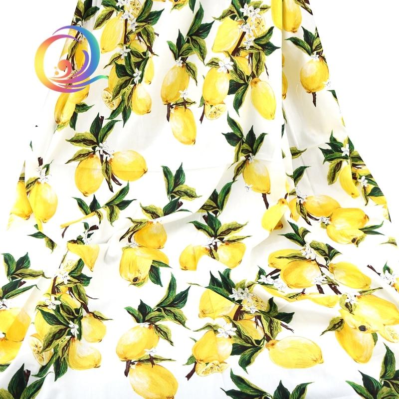 Haisen, verão Vestuário Tecido/Limão Série Padrão Impresso/Impresso Popeline Liso/Saia/Vestido/Camisa/Material meio Metro 50x145 cm