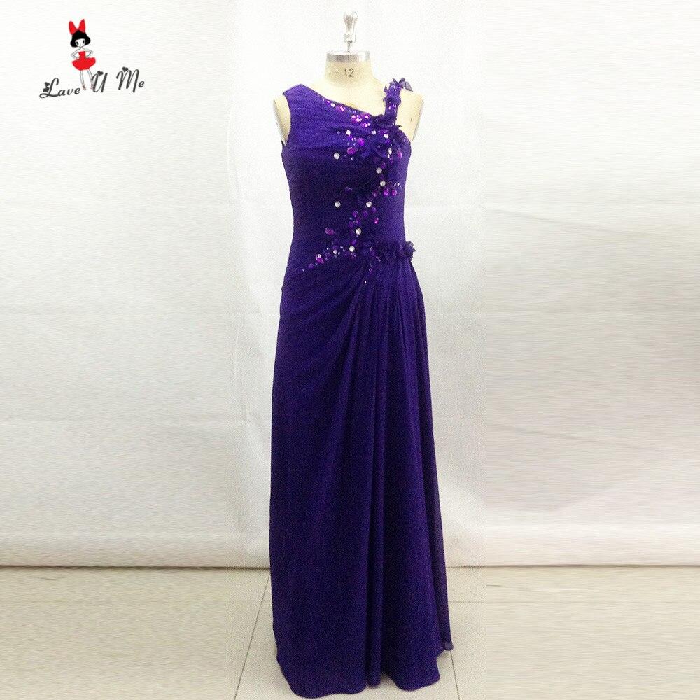Formal Evening Gowns By Designers: Unique Designer Purple Prom Dresses Long Graduation Dress