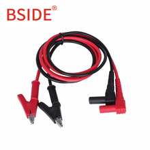 BSIDE T1101 Insulated MultiMeter Test Lead Meter Alligator Clip Crocodile Clamp Probe For Multimeter Test Tool Accessory