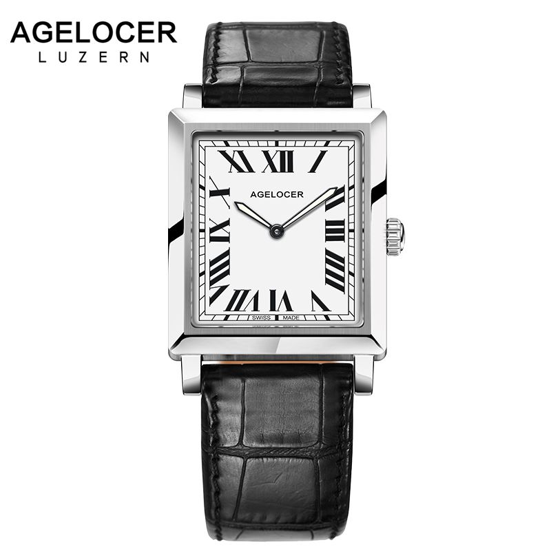 AGELOCER Swiss Brand Elegant Retro Watches Women Fashion Luxury Quartz Watch Clock Female Casual Leather Women's Wristwatches skmei brand elegant retro watches women fashion luxury quartz watch clock woman female casual leather strap women s wristwatches