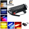Eonstime 8 Led Flash Boat Truck Car Flashing Warning Emergency Windshield 3 Mode Police Strobe Light Lamp Blue Red White Amber