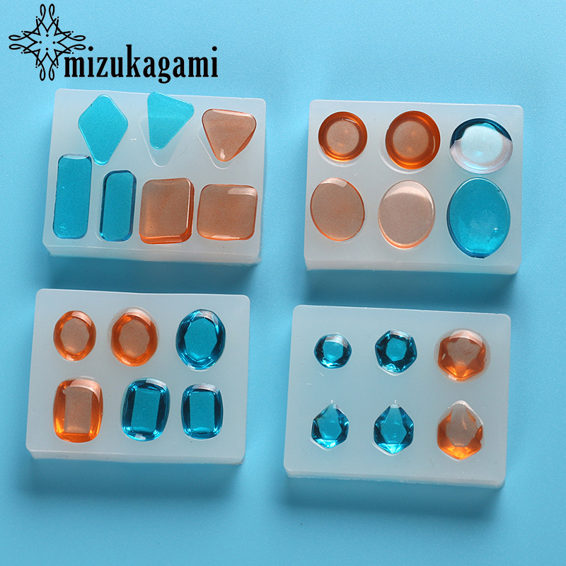 1pcs UV Resin Jewelry Liquid Silicone Mold Round Square Beads Pendant Resin Casting Mold Tool Decor For DIY Jewelry Making Molds