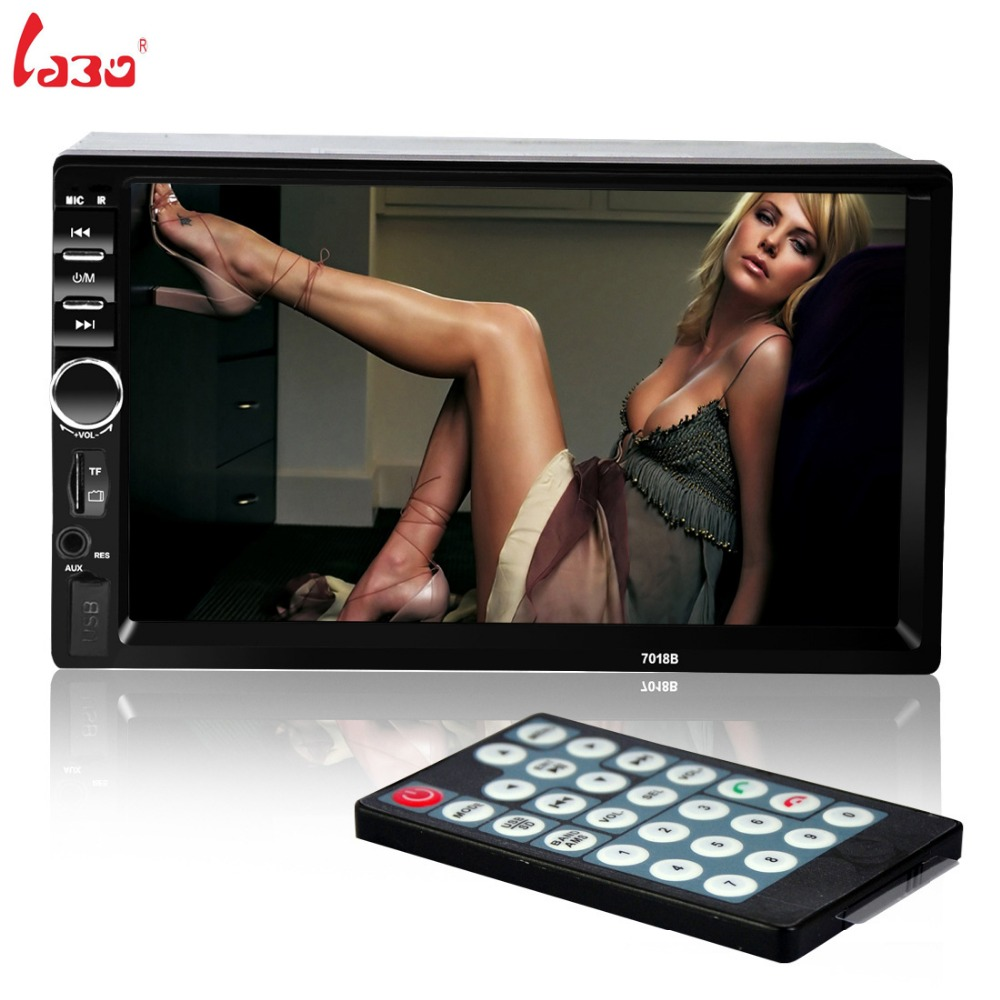 NEW 2 Din font b Car b font Video Player 7 HD Touch Screen 1080P Bluetooth